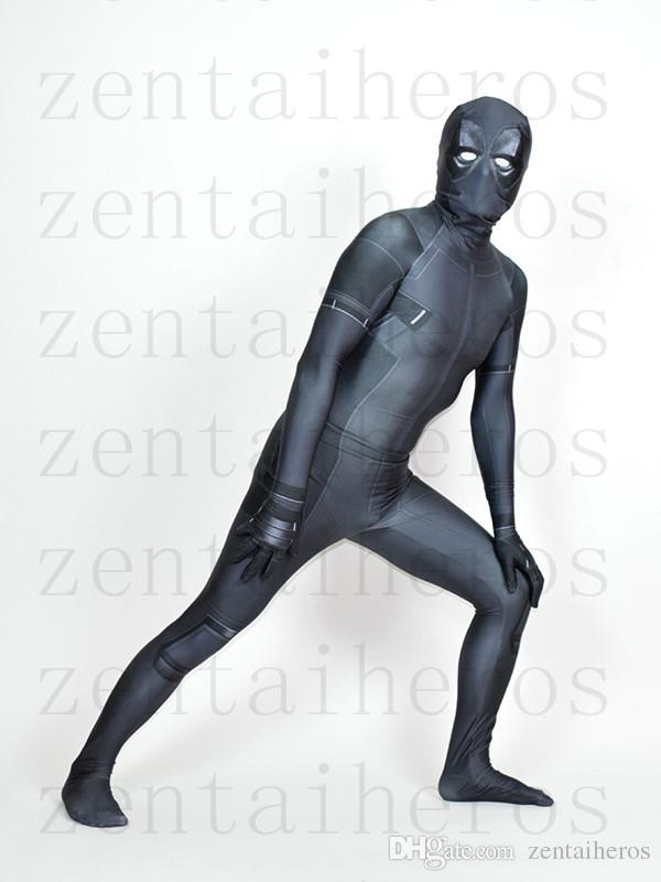 X-Force Deadpool Kostüm Gri Cadılar Bayramı Deadpool Parti Cosplay Takım