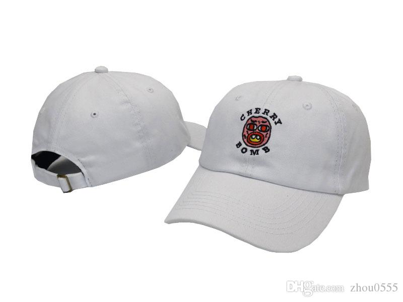 2018 RARES Golf Wang Cherry Bomb Baseball Cap Yeezus Strapback snapback Cap casquette gorras 6 panel hat Travis Scotts rodeo cap