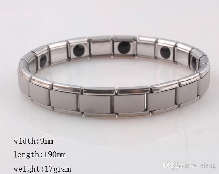 Sıcak satış Yeni varış 10 adet Enerji bilezik Titanyum, Nano Enerji Manyetik Germanyum Titanyum Bilezik Ağrı kesici Güçlü! 50