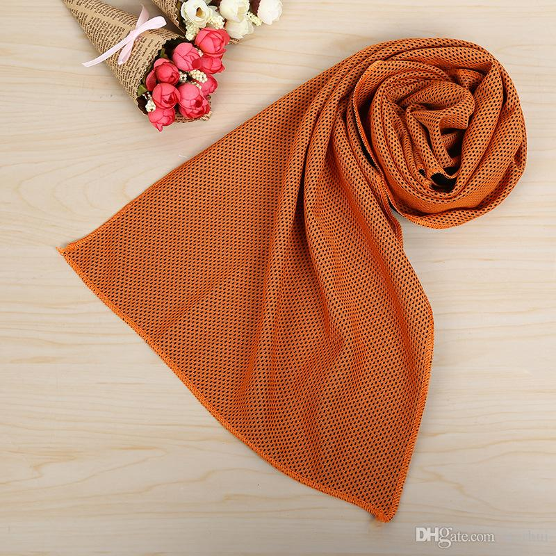 88*33cm Ice Cold Towels Cooling Summer Sunstroke Sports Exercise Cool Quick Dry Soft Breathable Towel WX-T13