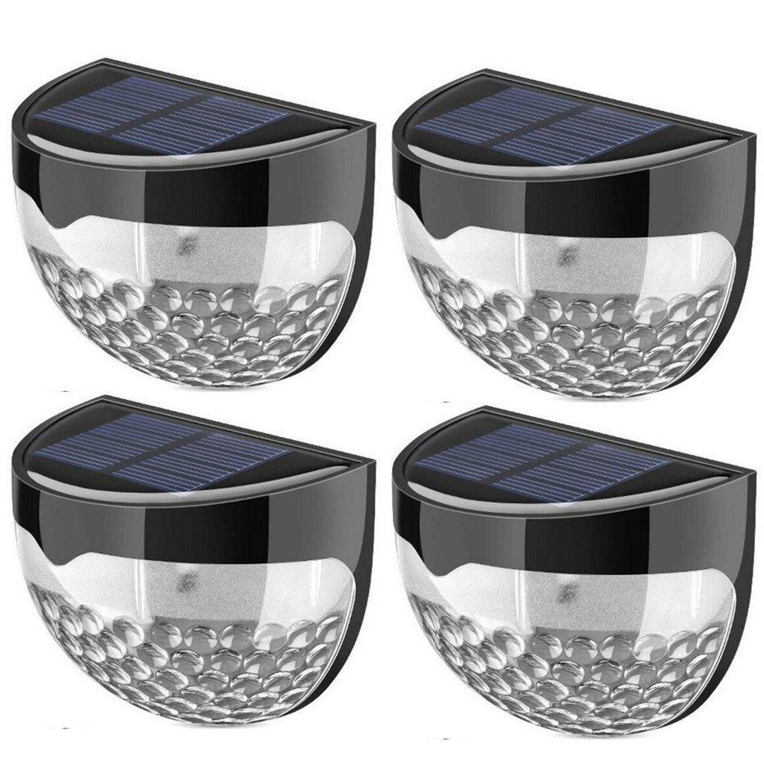 6 Led Solar Garden Outdoor Lights Waterproof Fence Light Wall Porcelain Wiring Diagram Lamp Wireless Sensor Security 4 Pack