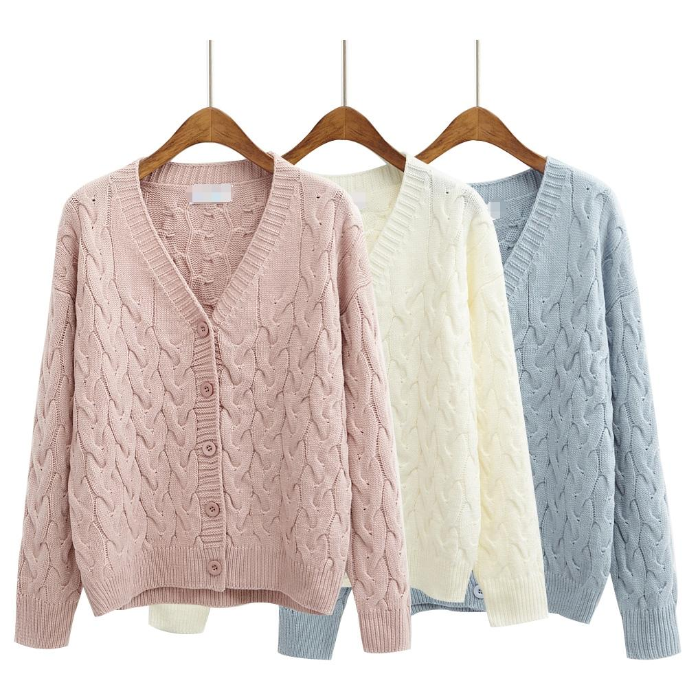 2019 Wholesale Harajuku Sweaters Women 2016 Korean Style Cute Coats Autumn  Winter Candy Colors Kawaii Pink Long Cardigan Sweater Women From  Volontiers 75e35c602