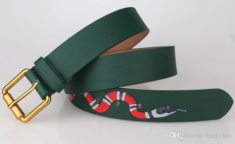 2017 conception de mode broche boucle Serpent animal modèle Ceintures de haute qualité concepteur de luxe ceinture pour hommes et femmes Véritable cuir ceinture pour cadeau