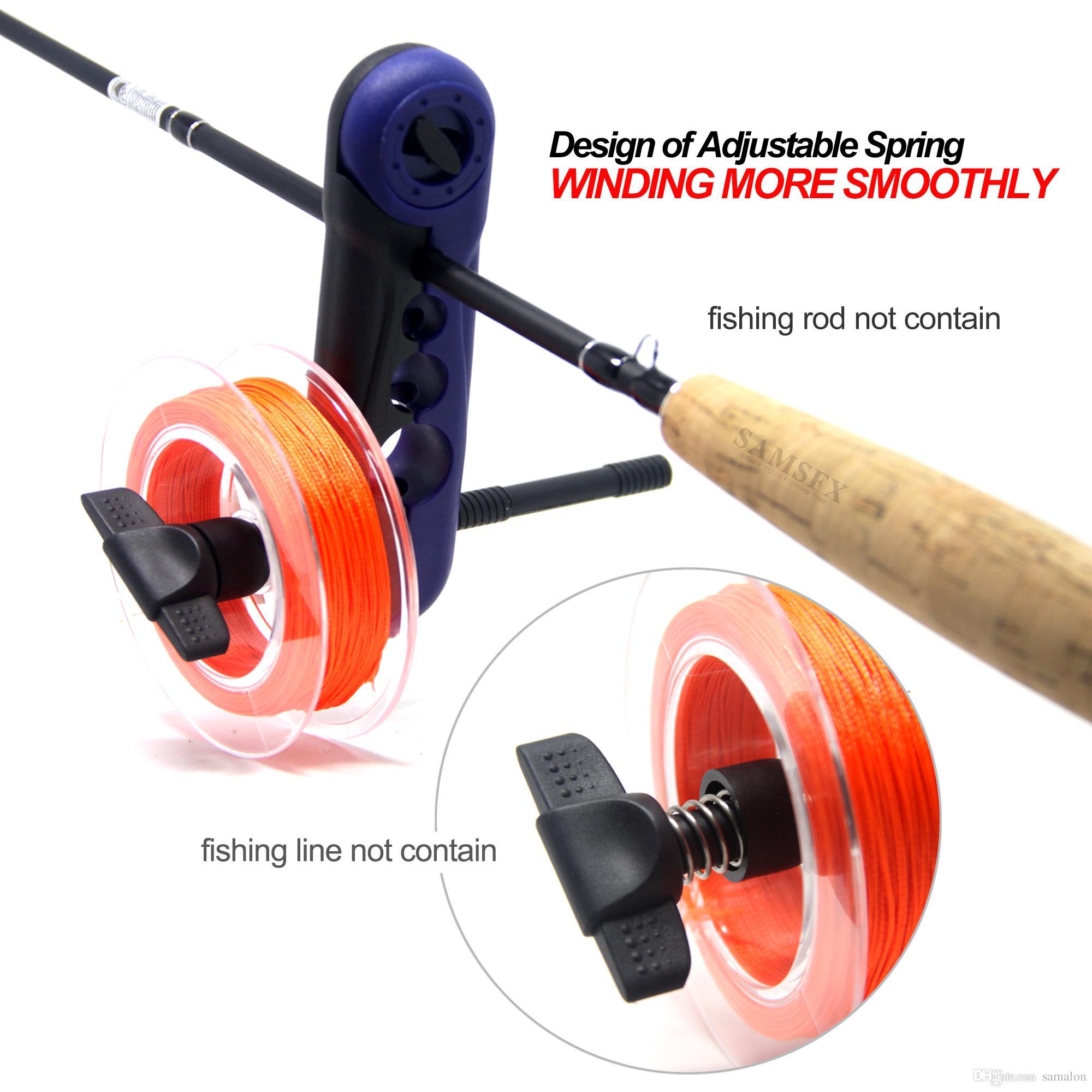 SAMSFX Portable Mini Universal Fishing Reel Line Spooler Spooler System работает с клипами на любом стержне размера