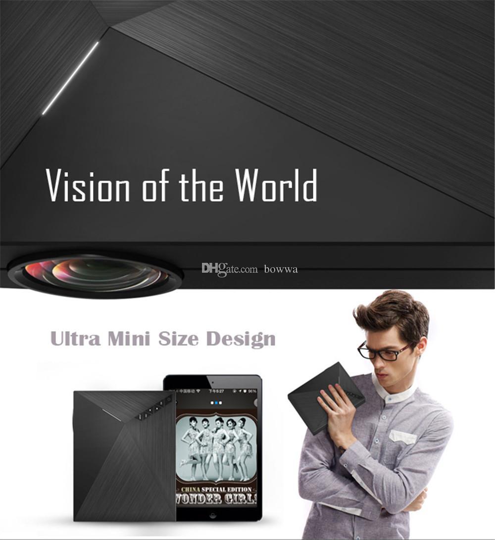 Nuovo GM60 Mini proiettore LED portatile 1000 Lumen FULL HD 1080P USB VGA AV SD videogiochi TV LCD Home Theater Proyector Cinema Beamer