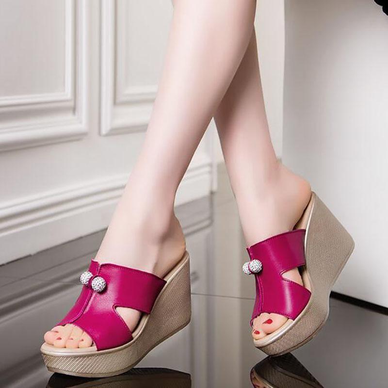 cecaaf1f554d38 2017 Princess Wedges Slippers Platform Women S Open Toe Fish Head Platform  Shoes Ultra High Heels Open Toe Cutout Female Sandals Ladies Footwear Womens  ...
