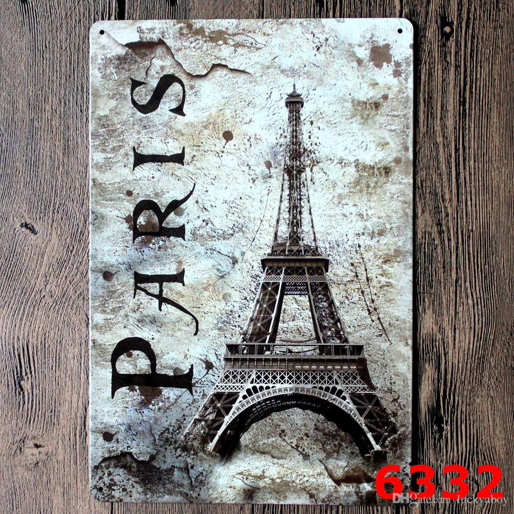 Famous Scenic Spot Poster Wall Decor Bar Home Vintage Craft Gift Art 12x8in Iron painting Tin PosterMixed designs