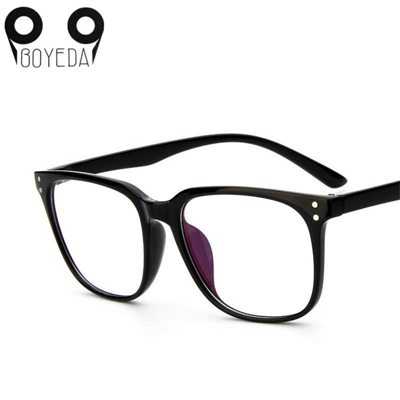 8308ff9d1c0 2019 Wholesale BOYEDA Hot New Eyeglasses Optical Computer Female  Transparent Eye Glasses Frame Fashion Men Women Suqare Brand Designer  Eyewear From Tonic