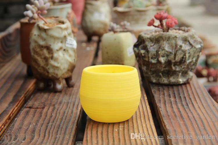 Gardening Flower Pots Small Mini Colorful Plastic Nursery Flower Planter Pots Garden Deco Tool High Quality