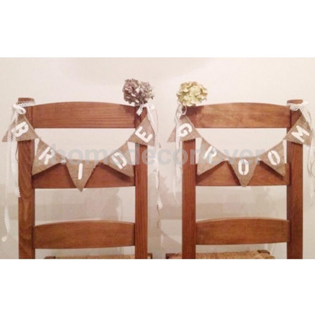 Rustic Wholesale Home Decor: 2019 Wholesale Vintage Hessian Burlap Rustic Wedding Bride