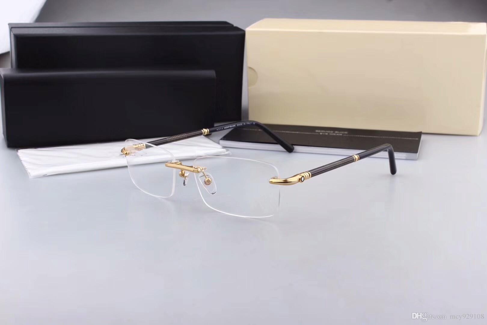 Новые очки кадров очков Рамных MB зрелища для Мужчины Женщины Близорукости Марка Дизайнер очков кадров прозрачных линз с оригинальным случае