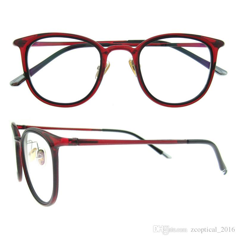 2017 Oval Designer Brand White Black Red Eyeglasses Frame For Women ...