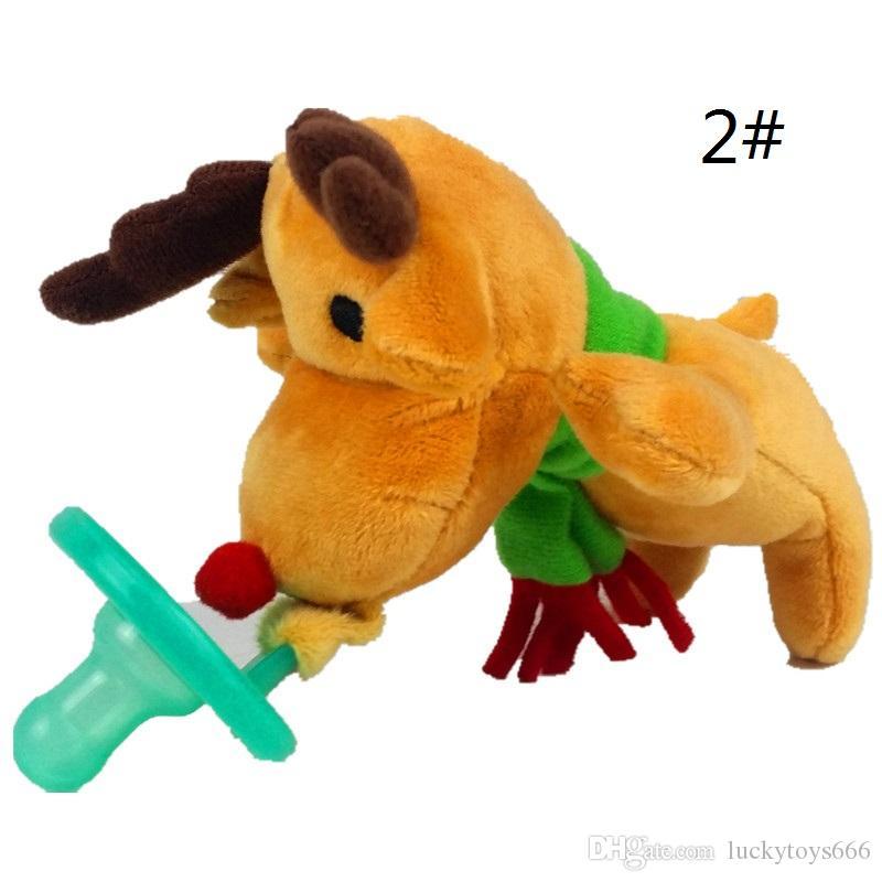 Neonato Silicone Divertente Ciuccio Ciuccio Catena Ciuccio Animale Con Peluche Soother Capezzolo Cane Monkey Worm 2017022601