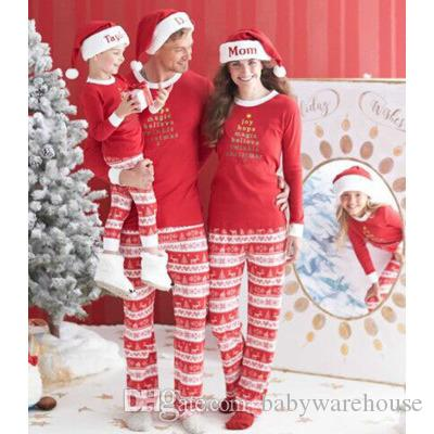 d1aa4e885a 2017 Hot Christmas Pajamas Matching Family Pajamas Autumn Winter Mother  Father Son Daughter Pajamas Set Matching Family Outfits Top Quality Dad And  Daughter ...