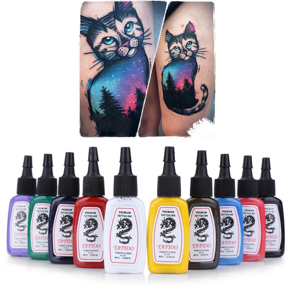 Wholesale Set Colors Bright Lasting Complete Tattoo Ink Pigment