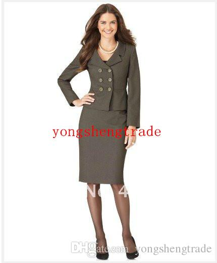 2017 Womens Clothes Gray Women Suit Tailor Suit Long Sleeve Double ...