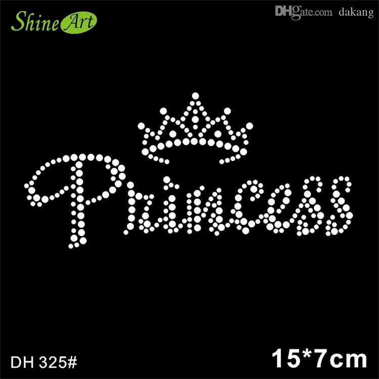 2019 Princess Crown Designs Iron On Transfer Hot Fix Rhinestone Rhinestone  Iron On Transfers Designs DIY DH325  From Dakang bc5c25cae5ed