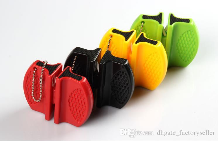 Mini sacapuntas rápidos de bolsillo de carburo de tungsteno cerámica cuchillo sacapuntas ranura doble y diseño portátil venta caliente