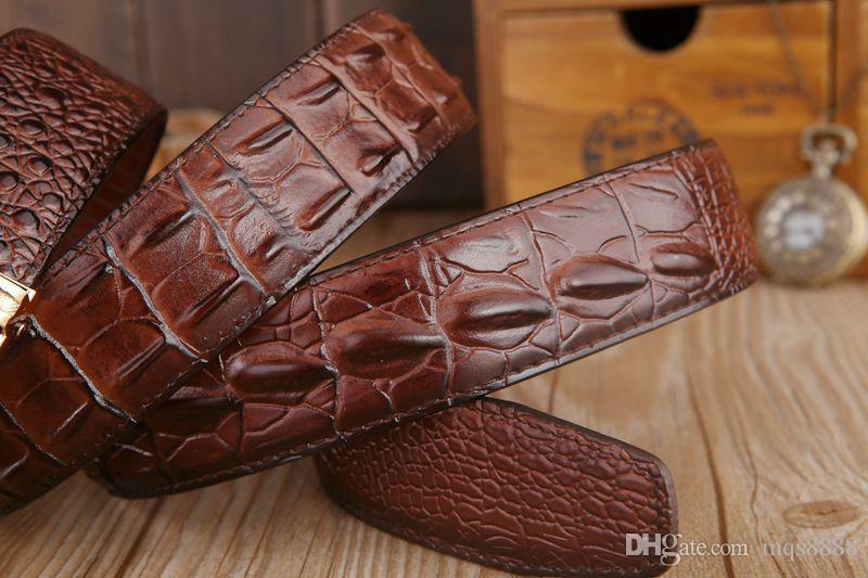 Mens fashion Belt New Designer Automatic Buckle 100% Cowhide Leather men belt 110cm-125cm Luxury belts for male