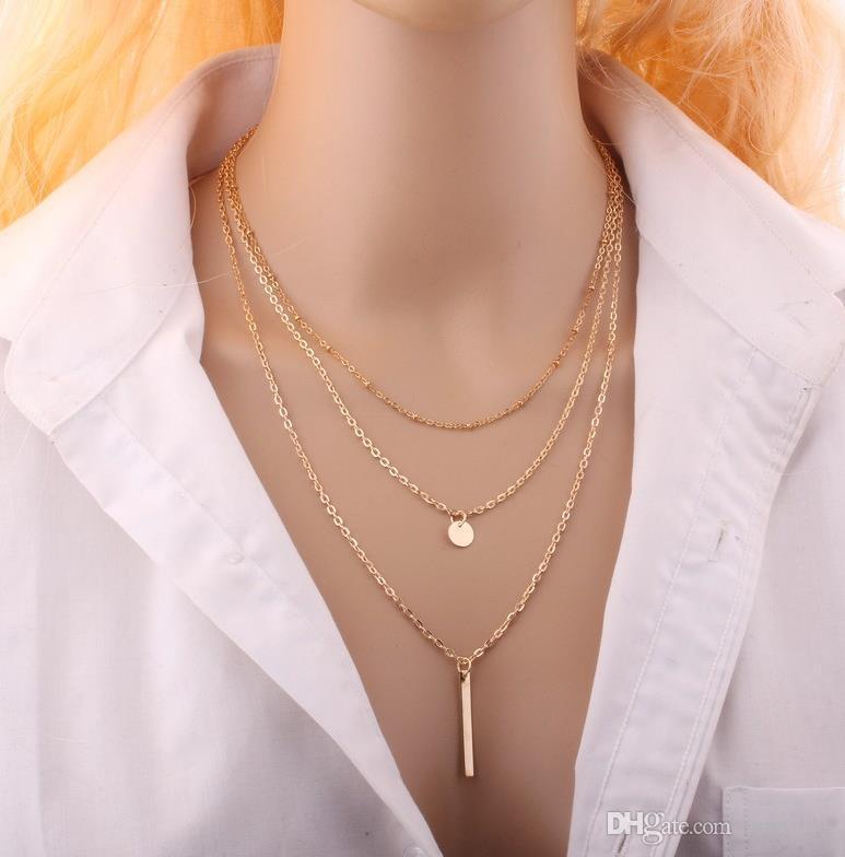 Legierungs-hängende Halsketten-beiläufige Persönlichkeits-Unendlichkeits-Kreuz Lariat-hängende Goldsilberne Halsketten-Dame Party Dress-Charme-Ketten-Halskette LC528