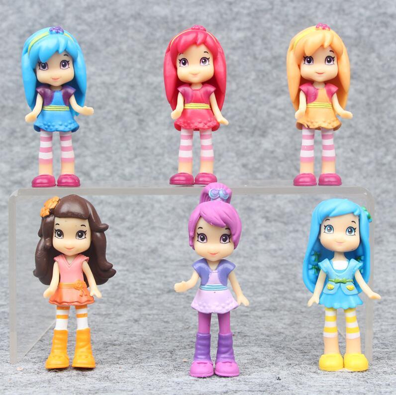 2019 New Cute Cartoon Strawberry Shortcake Girls Action Figure Toys