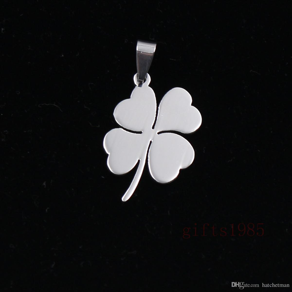 Lucky Clover charm stainless steel pendant necklace Support the wholesale, personalized custom.