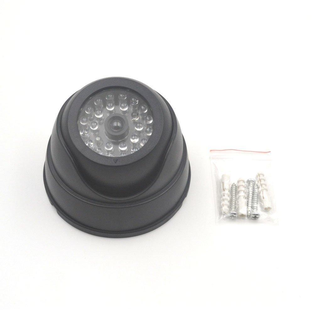 돔 보안 더미 카메라 가짜 카메라 시뮬레이션 적외선 적외선 LED 가짜 카메라 깜박이 불빛과 함께 CCTV 감시