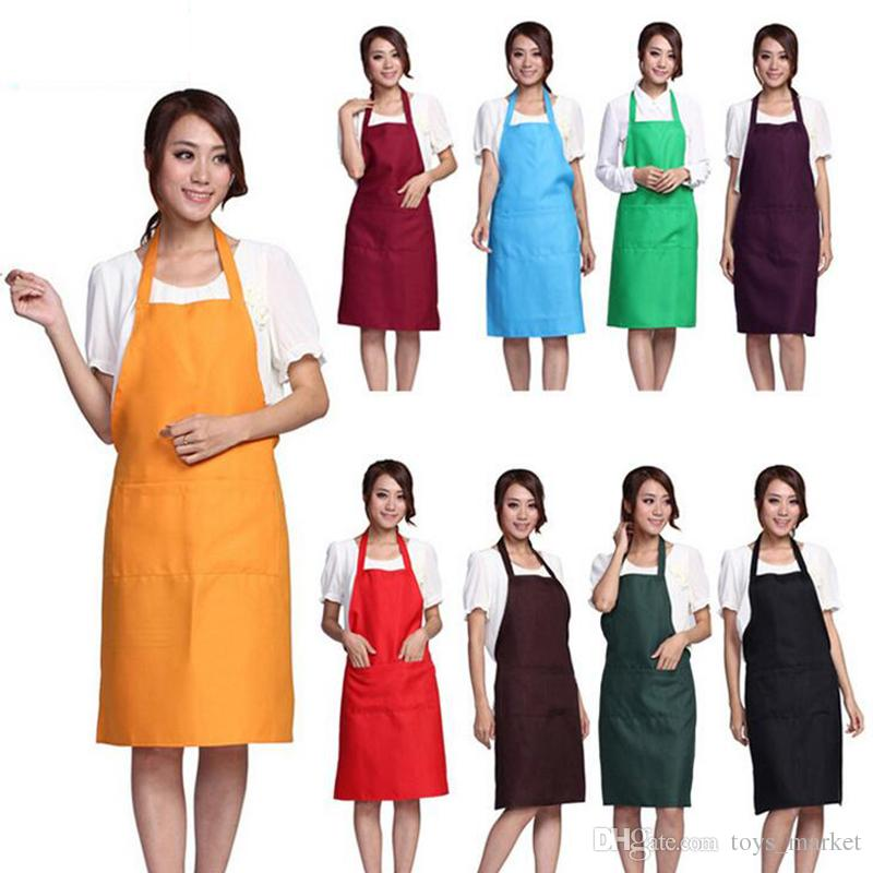 Plain Apron with Front Pocket for Chefs Butchers Kitchen Cooking Craft UK Baking Home Cleaning Tool Accessories