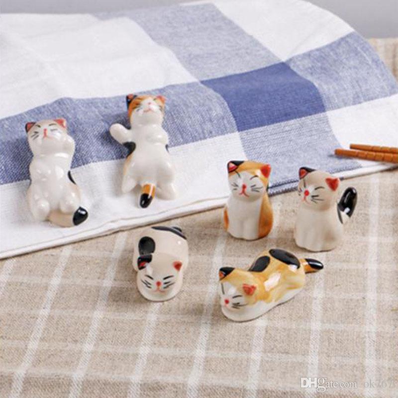 Künstliche Mini Katze Porzellan Ornament Fee Garten Miniaturen Zwerge Moos Terrarium Dekor Harz Handwerk Bonsai Wohnkultur für DIY