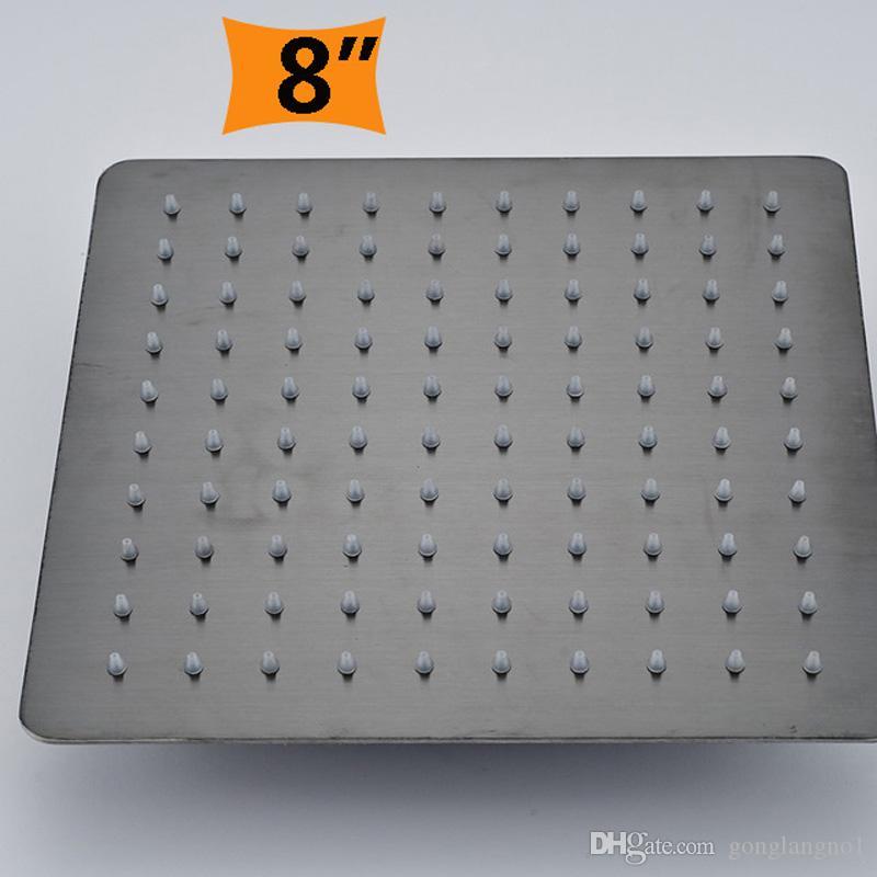 티타늄 블랙 욕실 초박형 비 샤워 헤드 8/10/12 Inch Square Round Rainfall Showerhead
