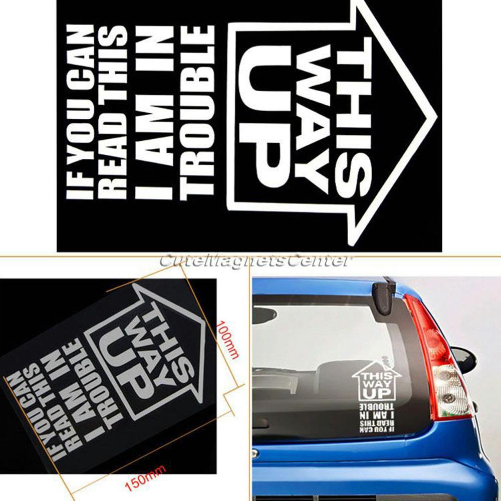 Wholesale Car Sticker This Way Up If You Can Read Accessories - Vinyl decals for cars wholesale