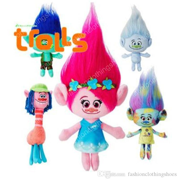 film 35 centimeters Johnson doll plush toys poppy branch plush cartoon doll dream works good luck trolls 50 personal computers