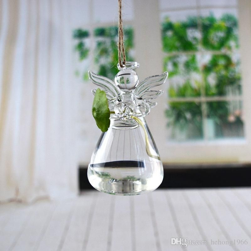 Angel Vase Hand Made Creative Floral Transparent Glass Hydroponic