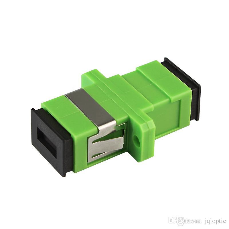 SC/APC SM SX fiber optical adapter plastic single/multi mode simplex flange coupler /BOX