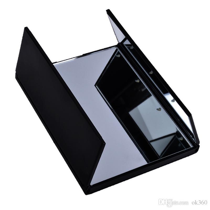 Faltende tragbare Reise bilden Tischlampe Spiegel W / 8 LED Make-upspiegel mit heller schwarzer rosafarbener weißer Qualität aus