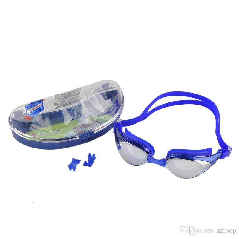 Unisex Adult Coating Mirrored Sport Water Sportswear Anti Fog Anti UV Waterproof Swimming Goggles Glasses New Arrival 2506006
