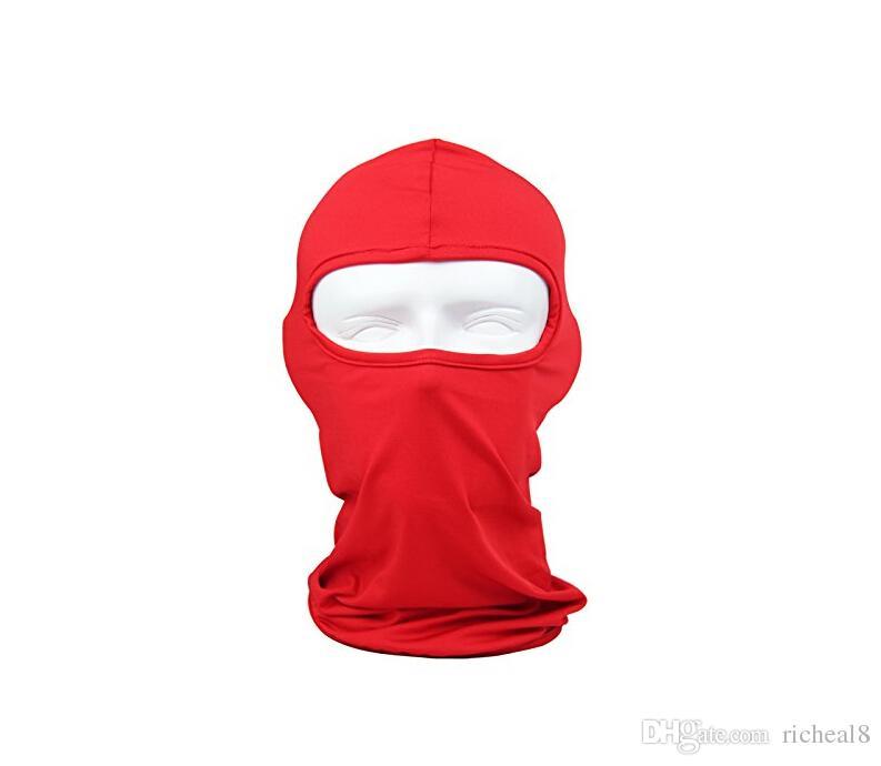 2017 Vente Chaude Moto Vélo En Plein Air Balaclava Ski Masque Complet Couverture Chapeau Capot Uv Sun Vent Protection contre la Poussière De Vent 12 Couleur