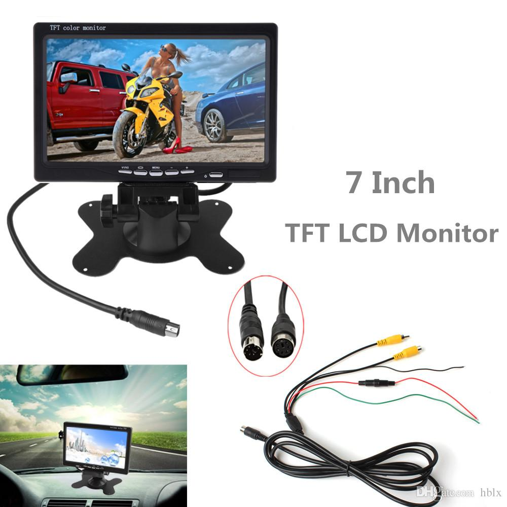 7 Inch 2CH HD 800*480 TFT- LCD Screen Car Monitor for Rear View Camera Auto Parking Backup Reverse Headrest Monitor CMO_30M