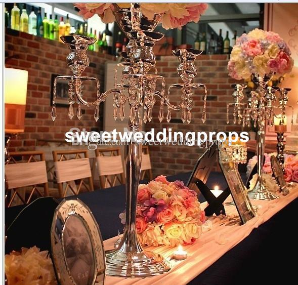 Ev dekorasyonu masa centerpieces çiçek aranjmanları için temizle kristal cam vazo