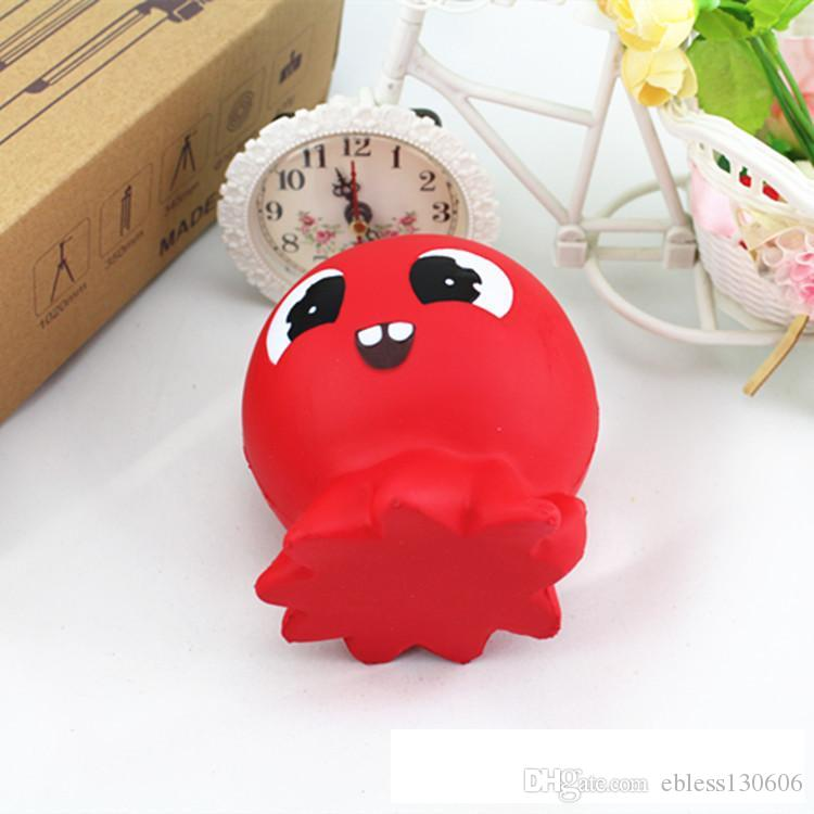 New shop hot sale squishy red Octopus bread slowly rises lovely bread decompression toys children's toys gifts