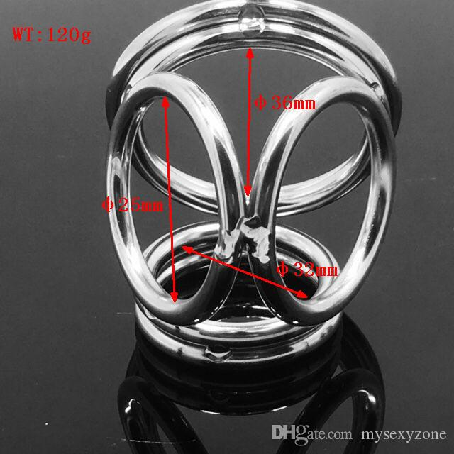 Металл 6 колец пенис кольца из нержавеющей стали металлический шар носилки целомудрие устройство БДСМ секс задержка Любовь кольцо бондаж CBT фетиш MKR914