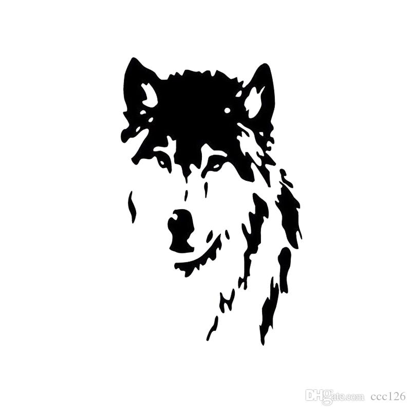 Animal wolf huskie wall stickers customerized lovely decoration tiger large size sofa glass cabnet stickers home decal decor gift