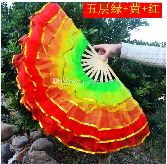 Nouvelle danse de la soie en Chine, éventail, éventail, accessoires de danse du ventre, accessoires de festival, danse carrée, éventail