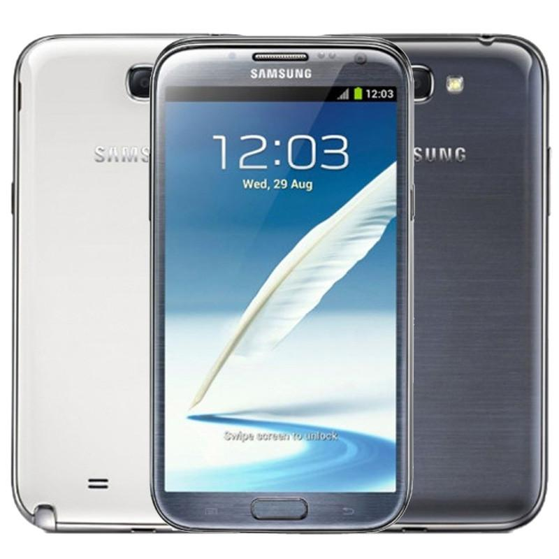 100% Galaxy original Samsung Note II 2 N7100 Note2 Quad Core reacondicionado 2 GB de RAM 16 GB ROM 8MP Smartphone 3G Teléfono móvil