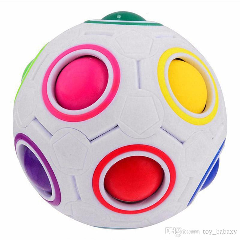 Newest Creative Rainbow Ball Magic Cube Football Fun Spherical Puzzles Kids Educational Learning Toys Games for Adults Gifts