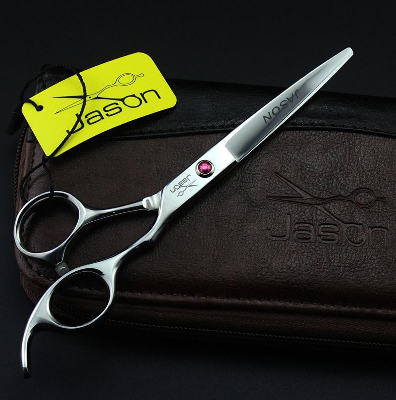 6.0 Inch Jason Professional Forbici da parrucchiere Kit taglio forbici assottigliamento JP440C Hot Barber Scissors capelli cesoie Barber Tools, LZS0634