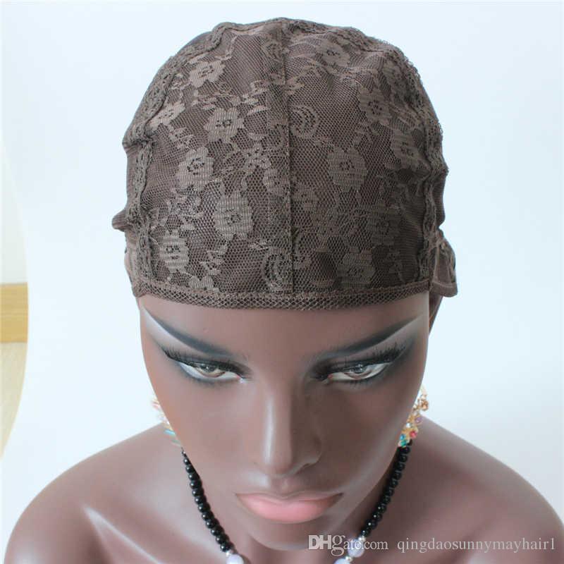 Bonnets de perruque juive S / M / L pour la confection de perruques / uniquement bonnet de tissage en dentelle extensible