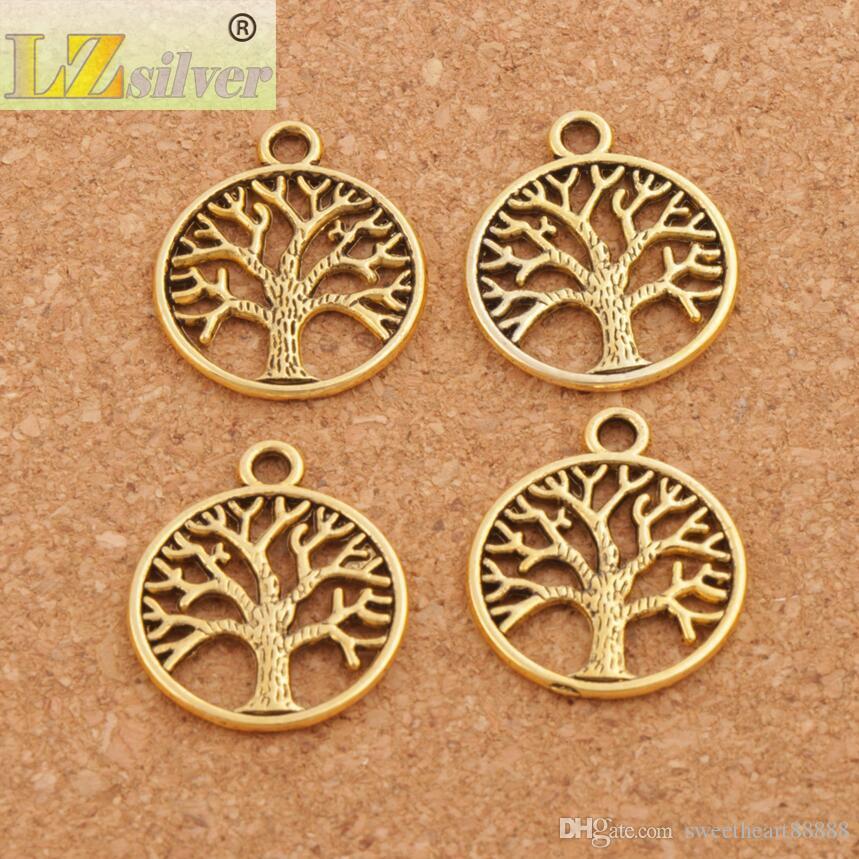Family Tree Of Life Charms Kolye / Antik Gümüş / Bronz / Altın Takı DIY L463 20x23.5mm Sıcak