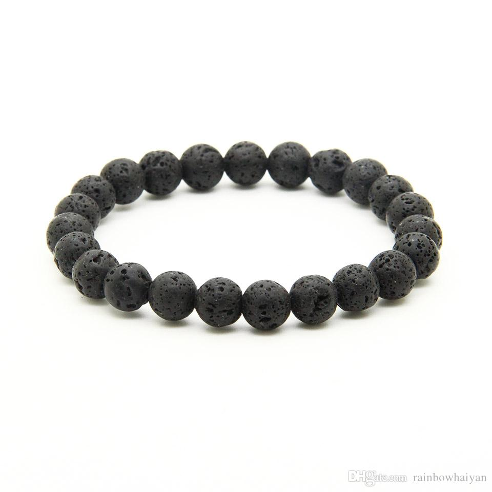 Wholesale Mix Colors 8mm Good Quality Tiger Eye, Dalmatian Jasper, Matte Agate Stone Energy Elastic Beaded Bracelets