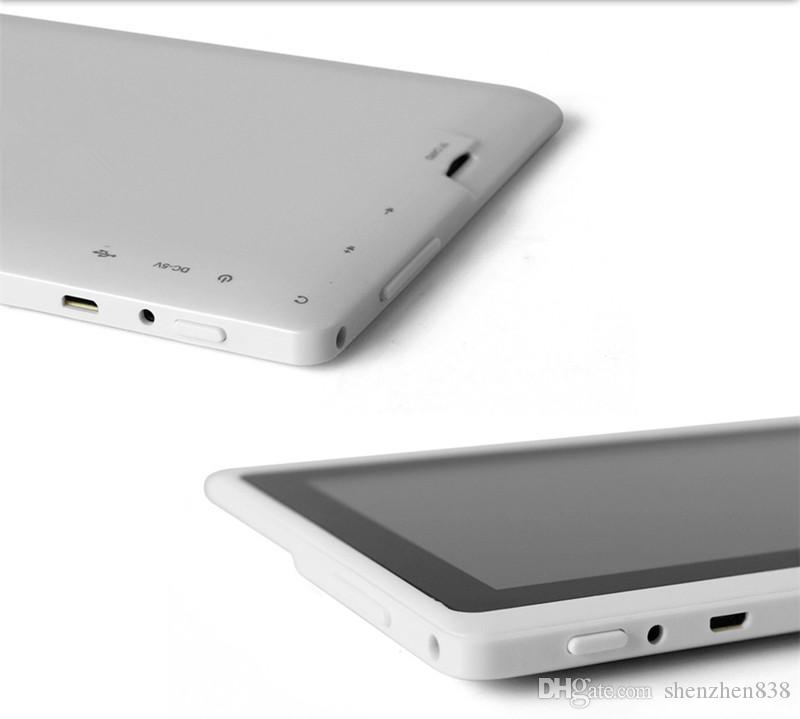 838 DHL 7 pouces Q88 Tablets Quad Core Allwinner A33 1.2GHz Android 5.1GB RAM 8GB ROM Bluetooth WiFi OTG Tablet PC A-7PB